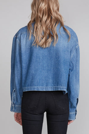 Courtney Cropped Work Shirt - Brindley