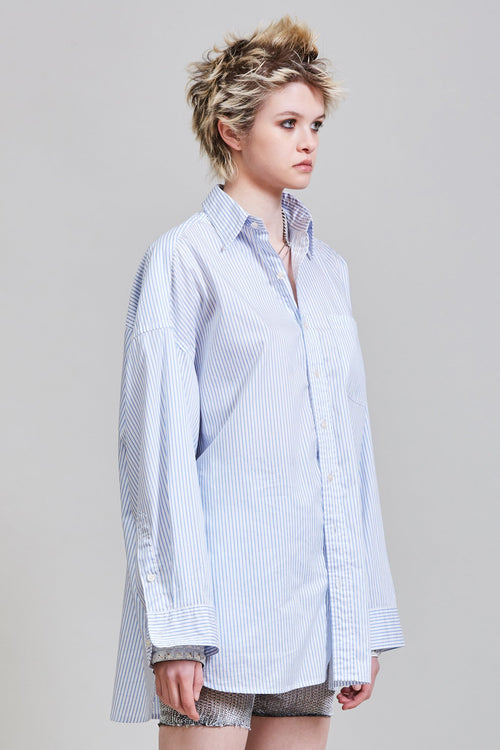 BUTTON UP SHIRT - BLUE STRIPE
