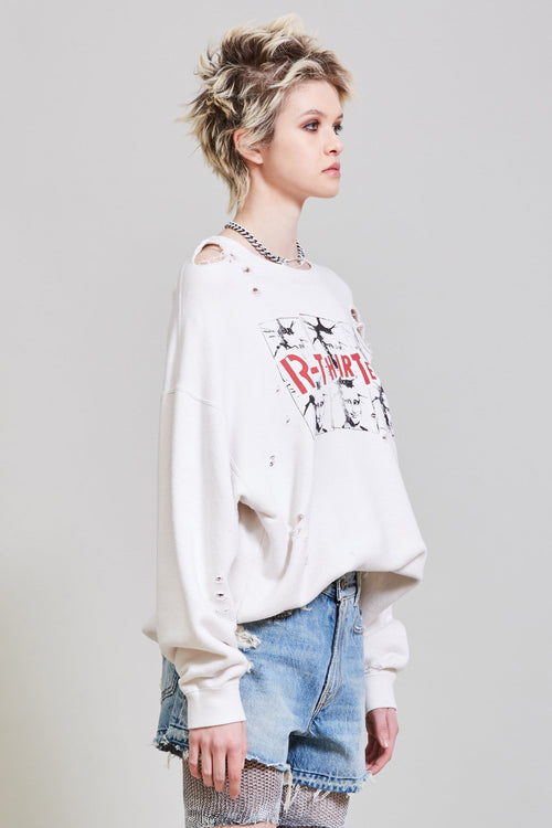 R13 MONA CREWNECK - DIRTY WHITE