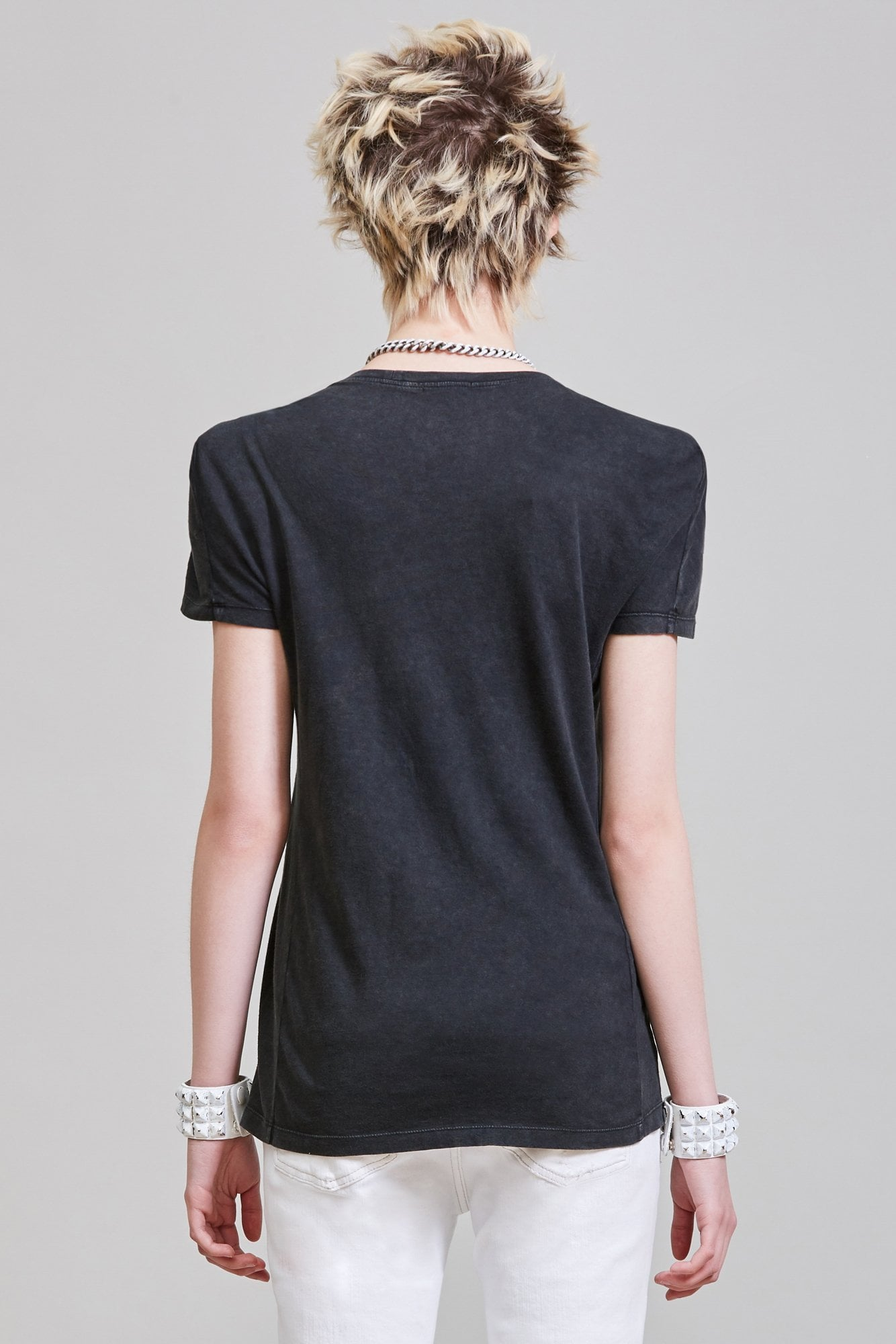 SQUARE SHOULDER TEE - AGED BLACK
