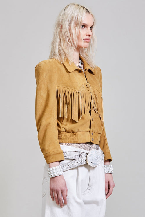 FRINGE BOMBER - WHEAT