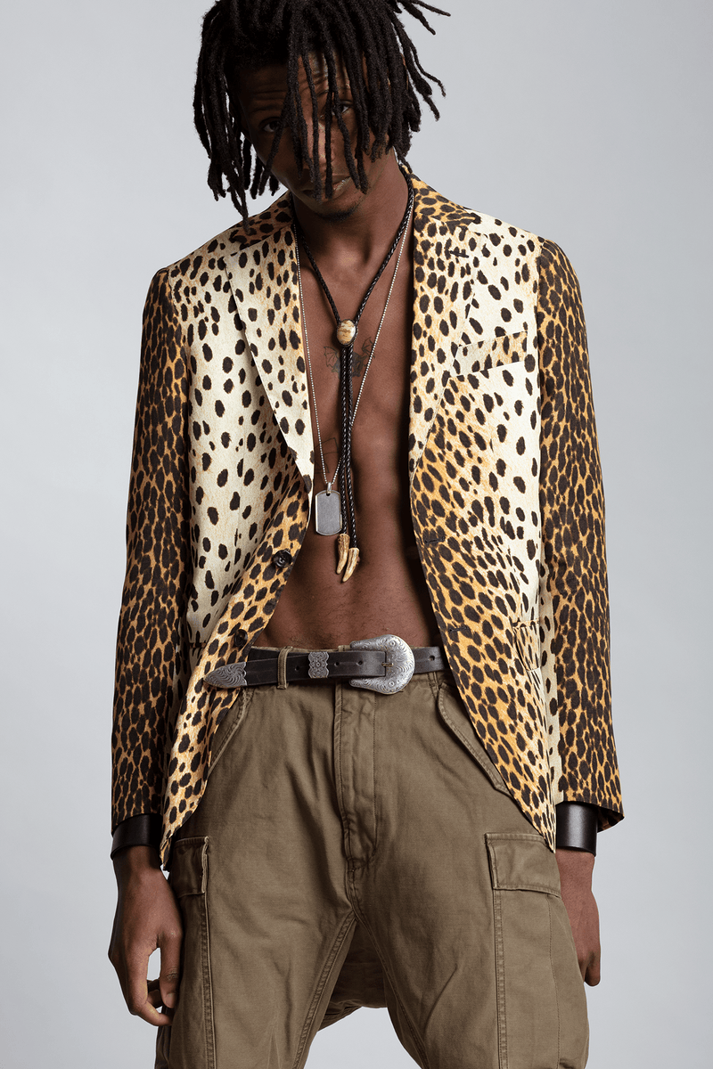 Tailored Blazer - Cheetah