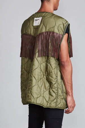 Sleeveless Liner with Fringe