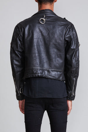 Motorcycle Jacket with Rings