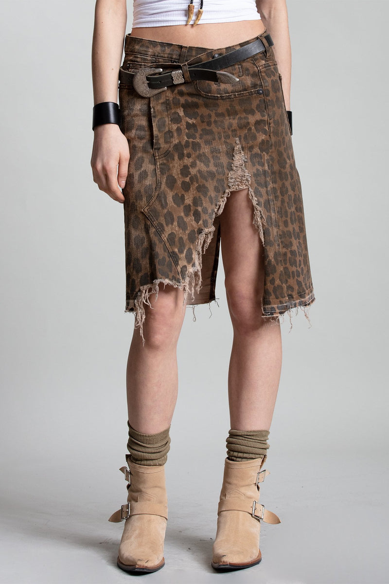Norbury Skirt - Leopard