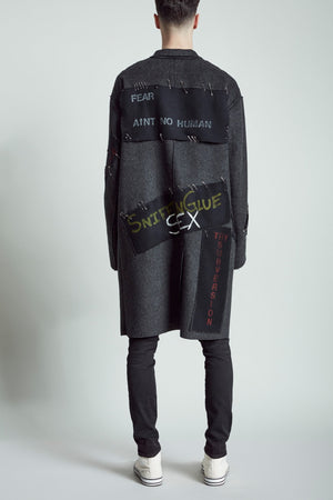 Punk Coat - Black and Grey