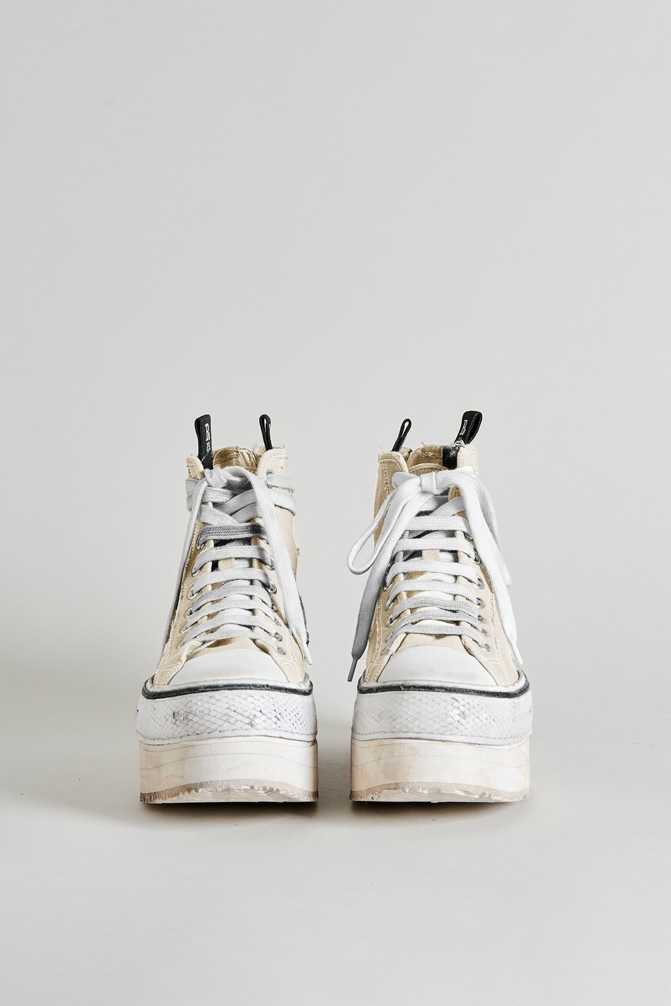 Platform High Top Sneakers - Ecru