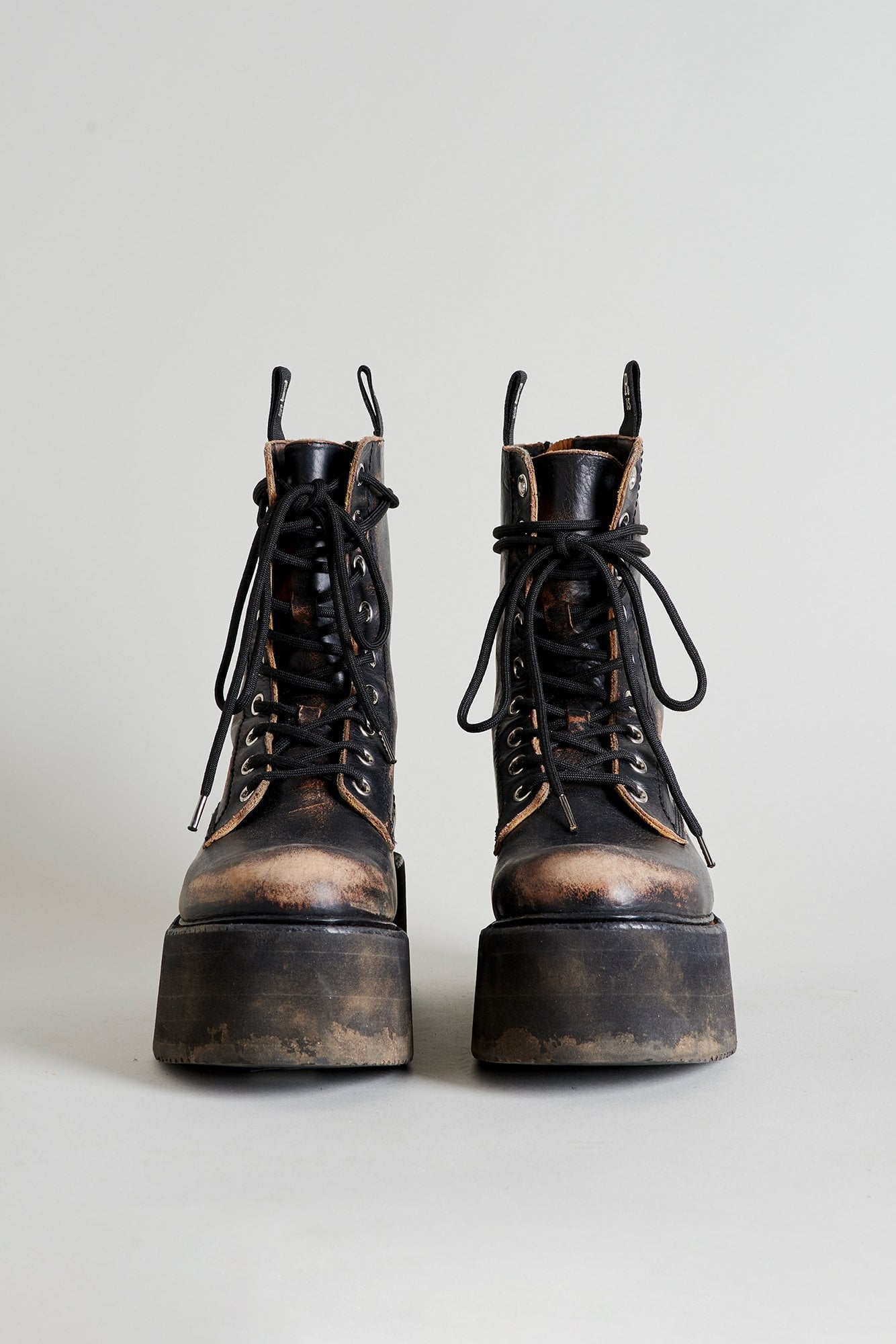 Double Stack Lace-Up Boots
