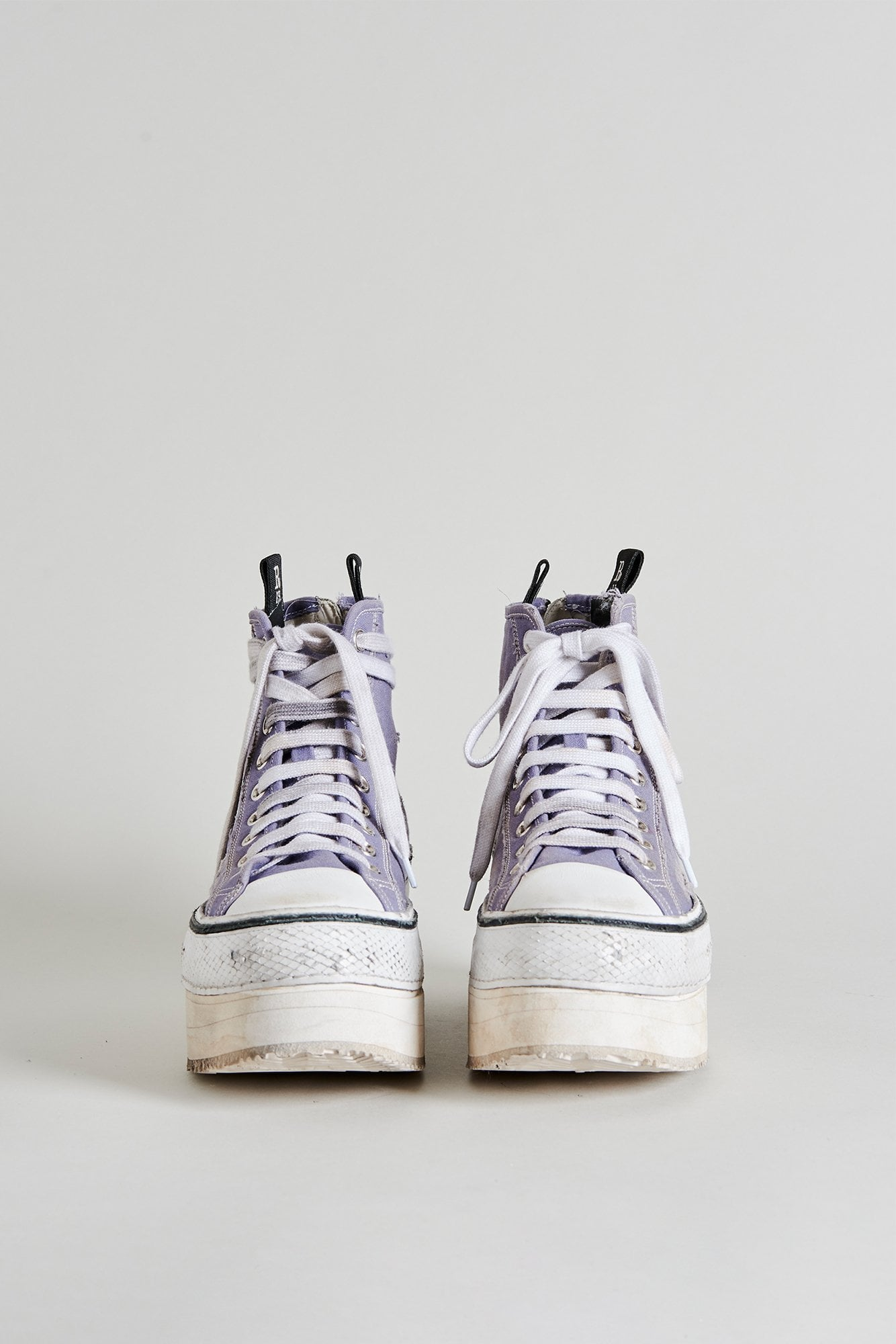 Platform High Top Sneakers - Lilac