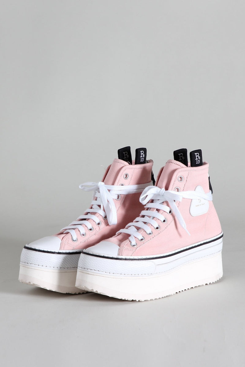 Platform High Top Sneakers - Pink