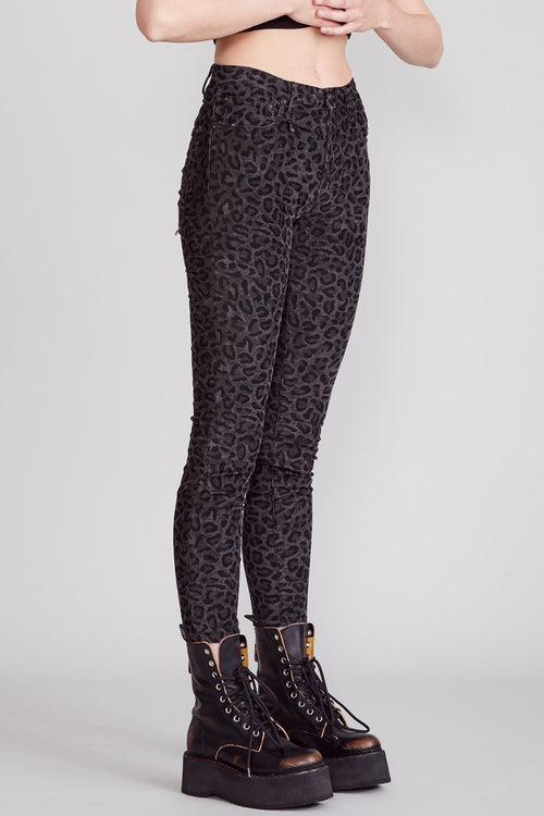 High Rise Skinny - Midnight Leopard
