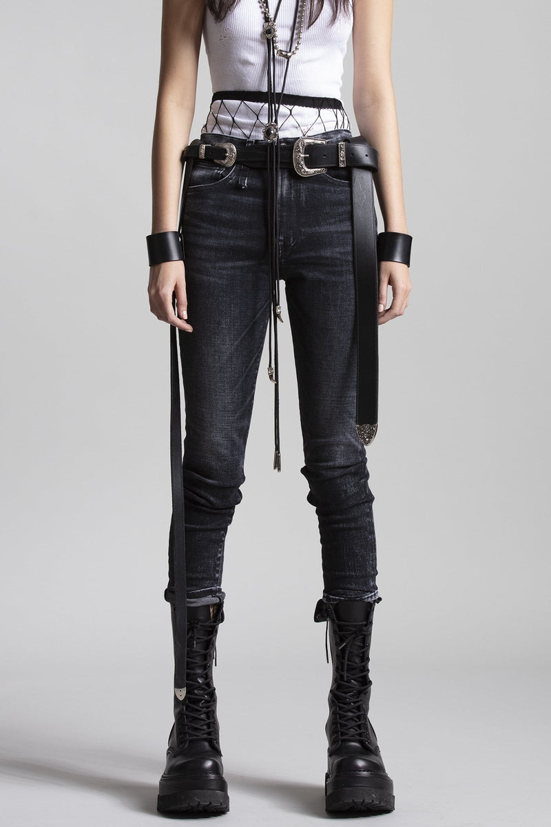 High Rise Skinny - Morrison Black