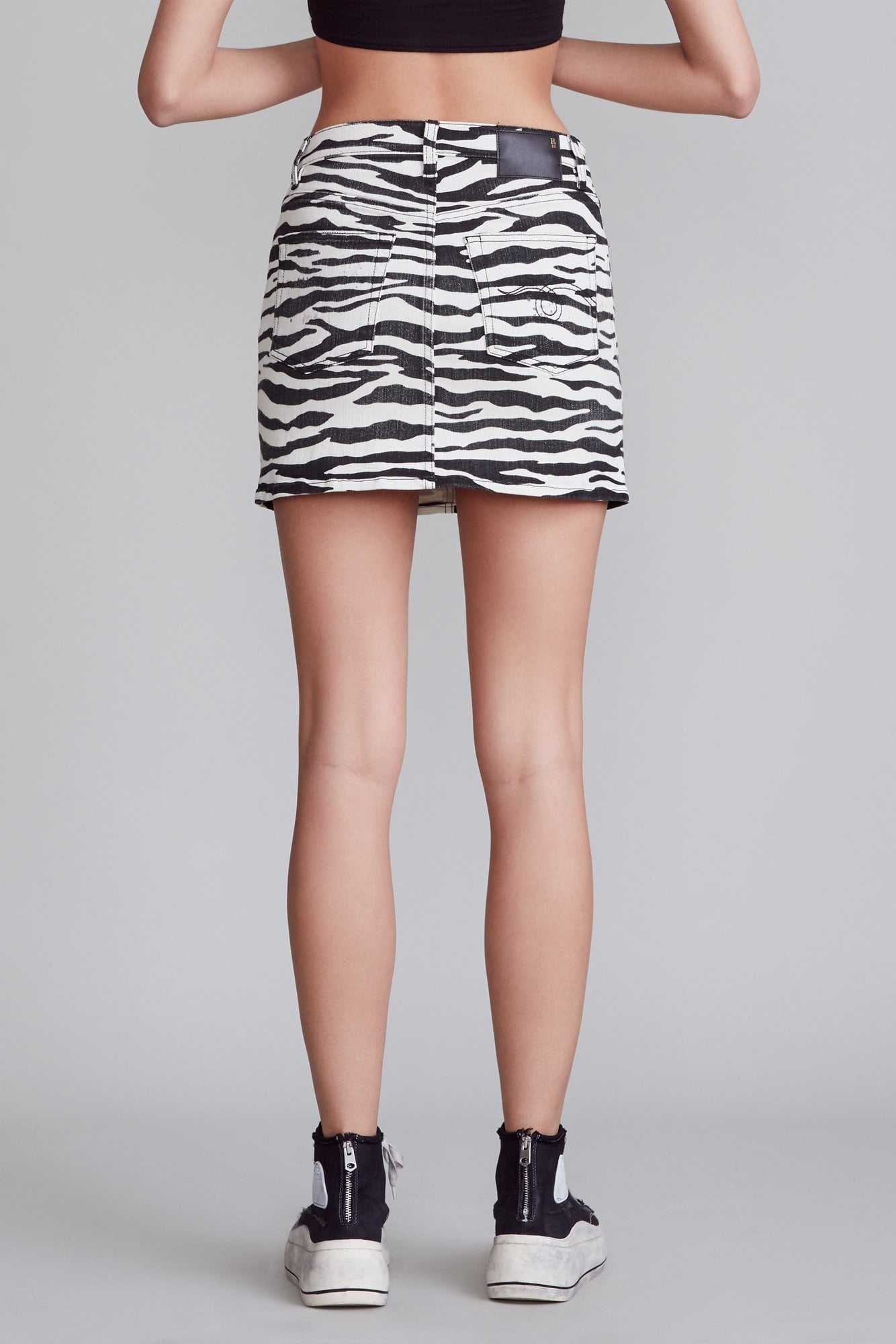 High Rise Mini Skirt - Zebra Print