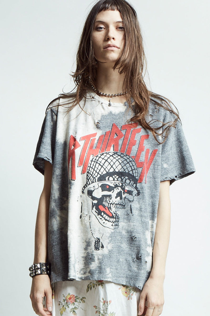6ea05acdb5 Exploited Punk Oversized T- Bleached Grey