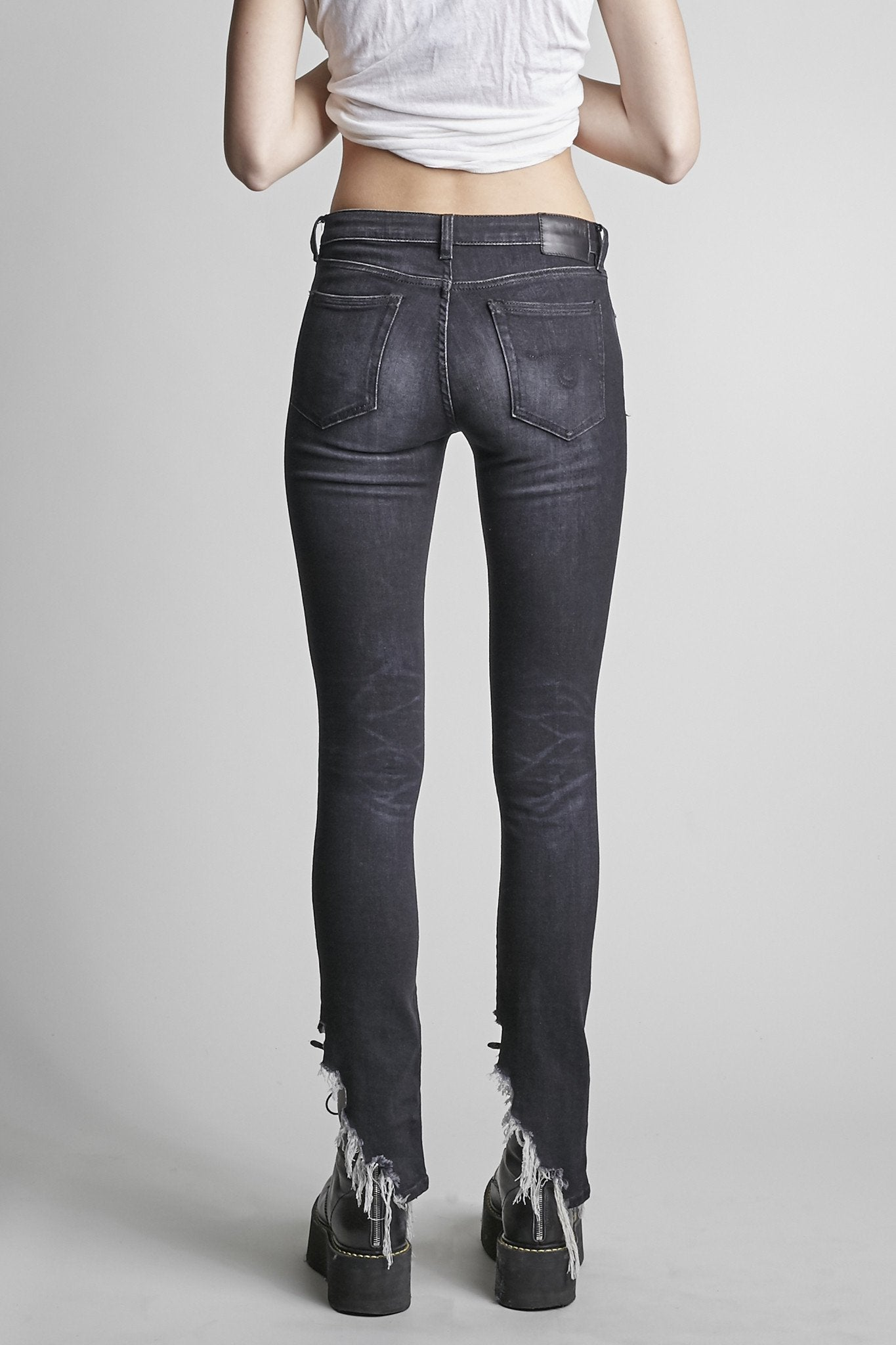 Kate Skinny Dark Moon with Angled Hem