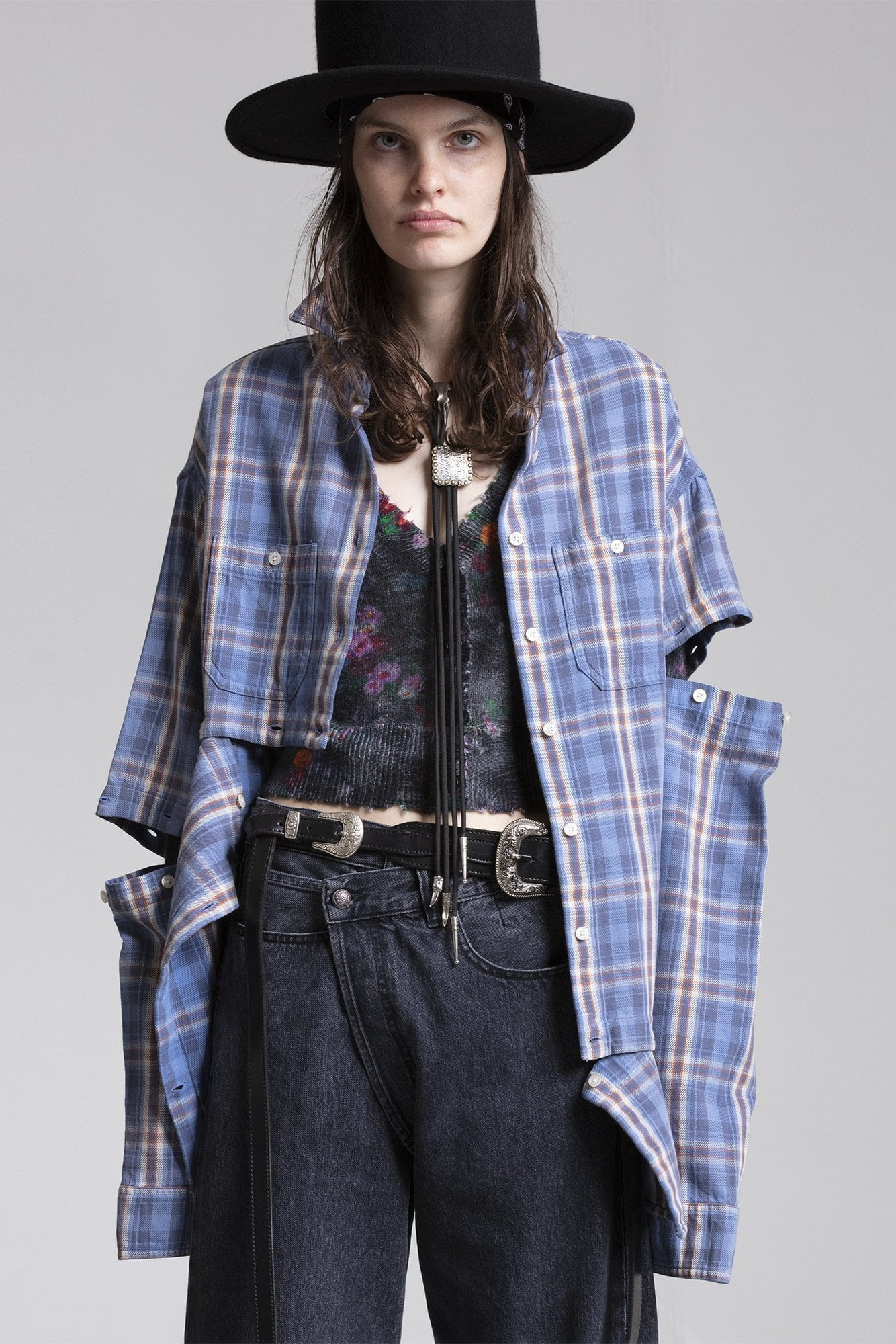 Undone Shirt - Blue Plaid