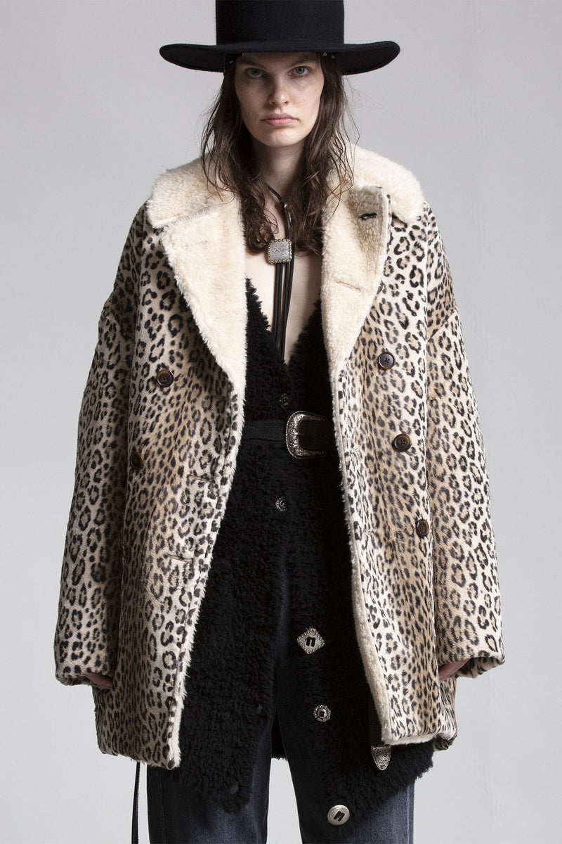 Hunting Coat - Tan Leopard