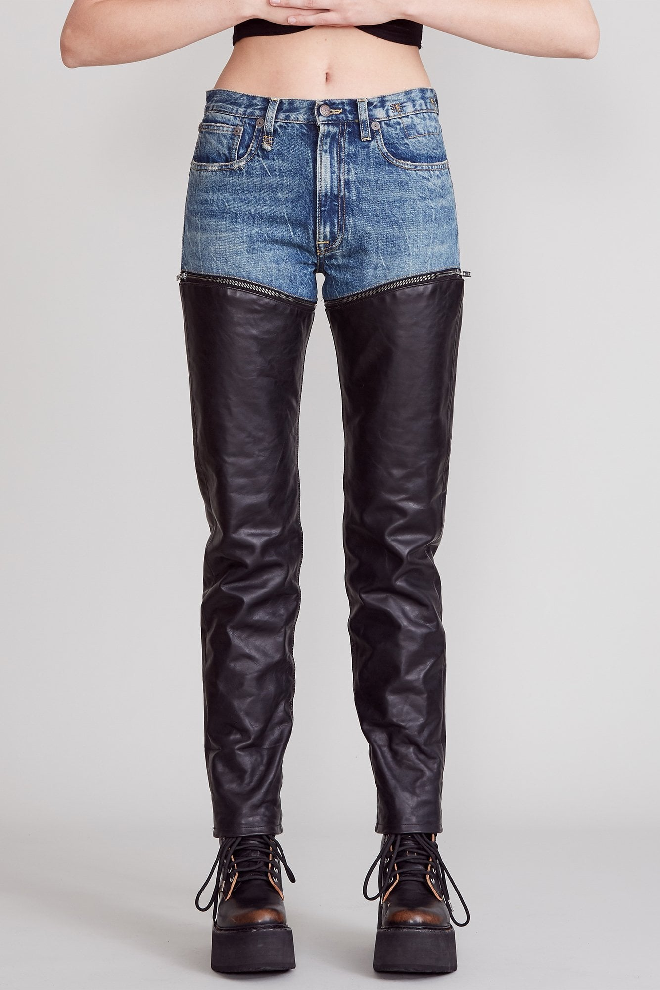 Zip-off Axl Slim - Kelly with Leather