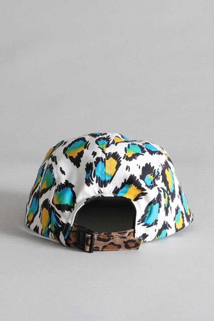 Skater Cap - Multicolor Leopard with Grey Plaid