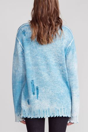 Faded Cashmere Crewneck - Light blue