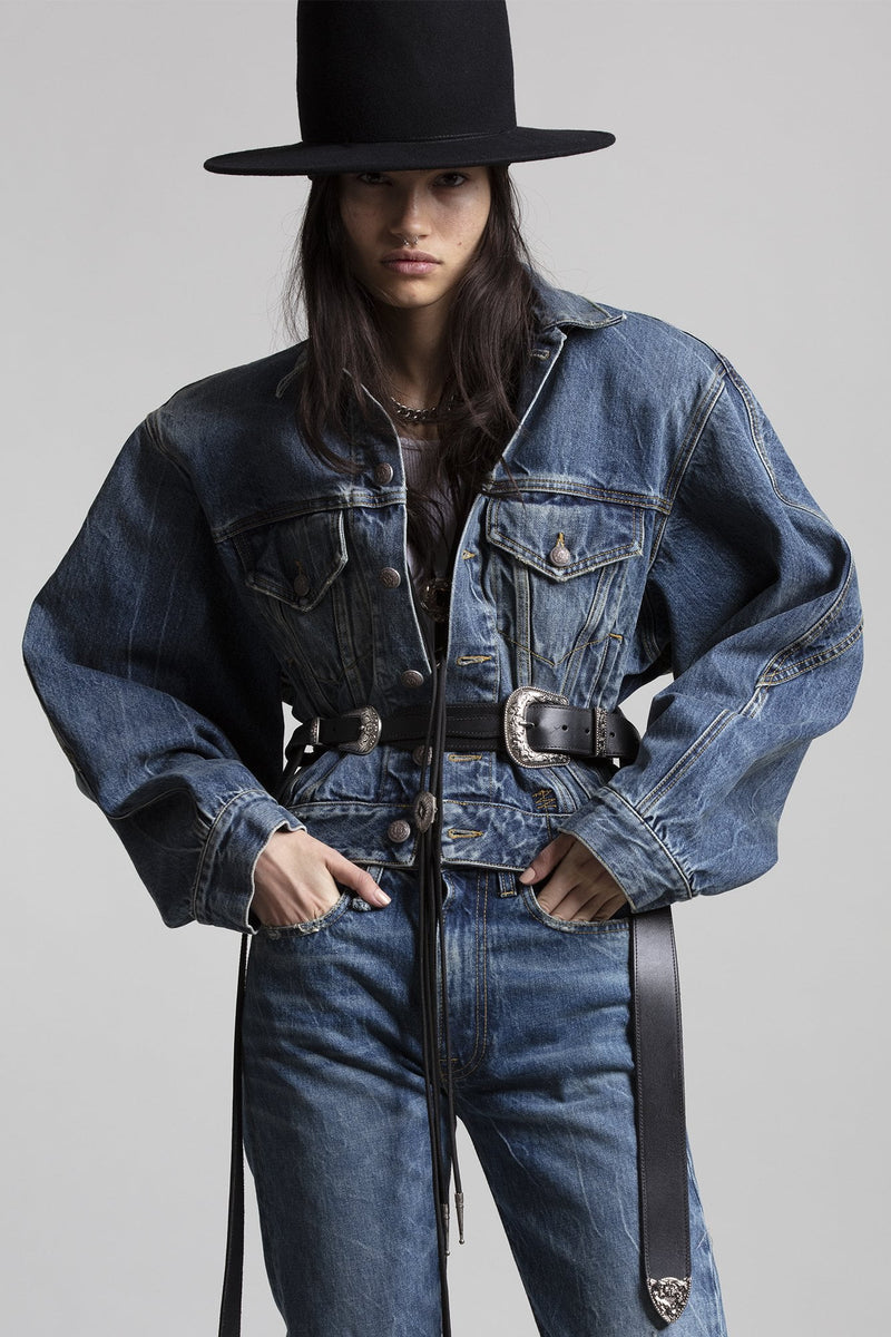 Naomi Trucker Jacket - Kelly