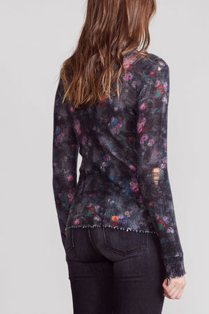 Skinny Floral Turtleneck