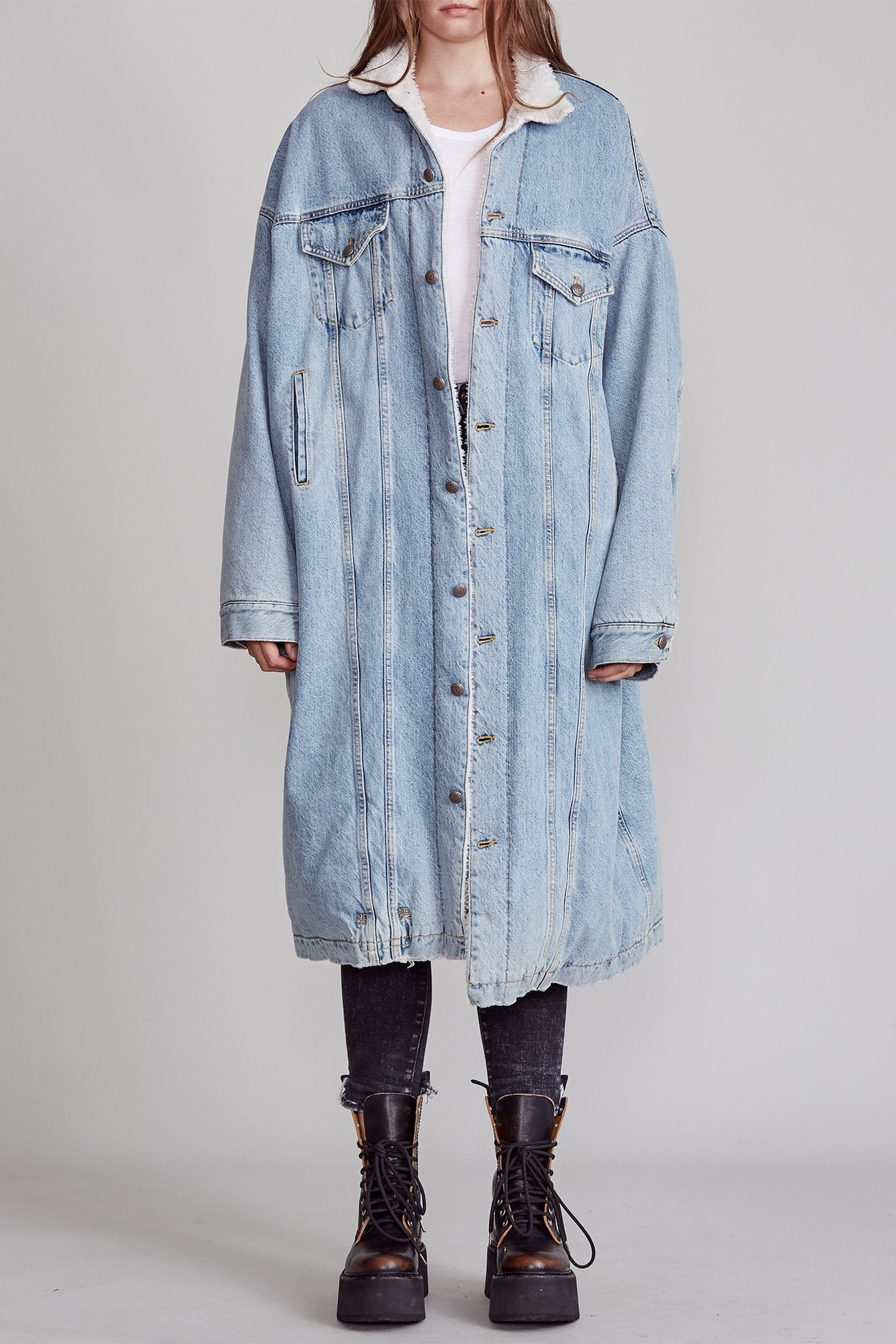 Lyle Trucker Coat - Slate Blue