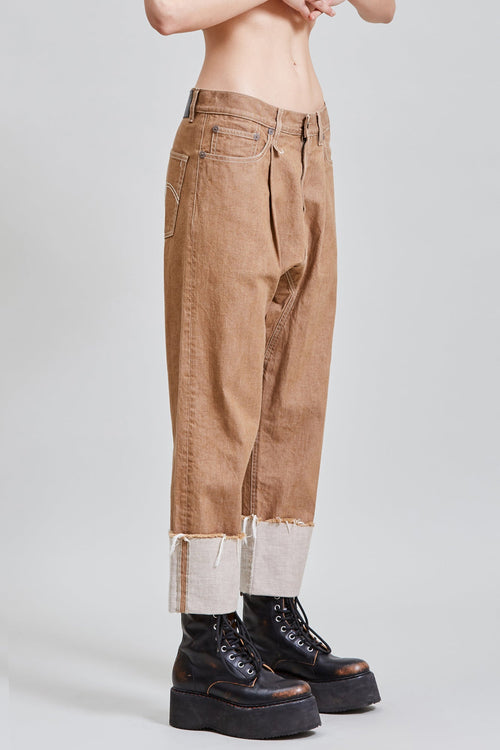 PLEATED DROP WITH CUFF - KHAKI
