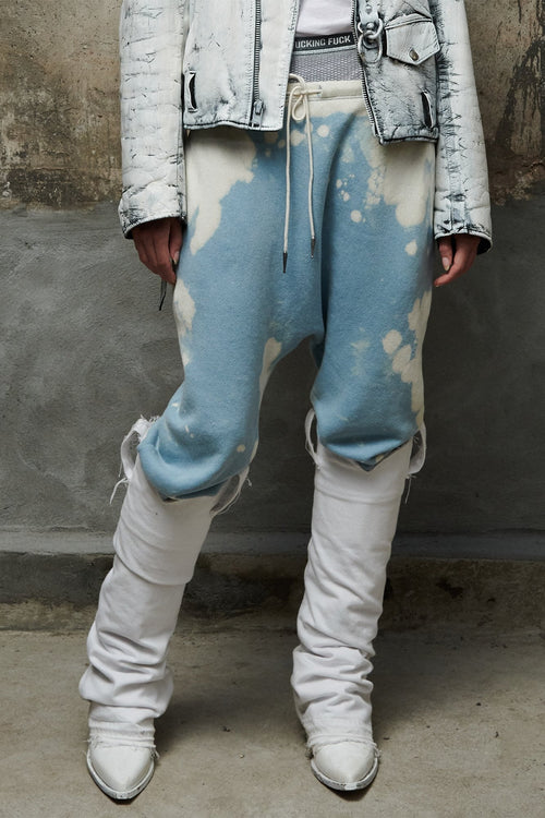 DROP SWEATPANTS - BLEACHED LIGHT BLUE