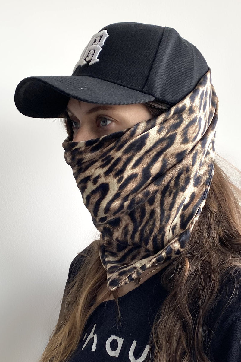 R13 Logo Cap with Leopard Scarf