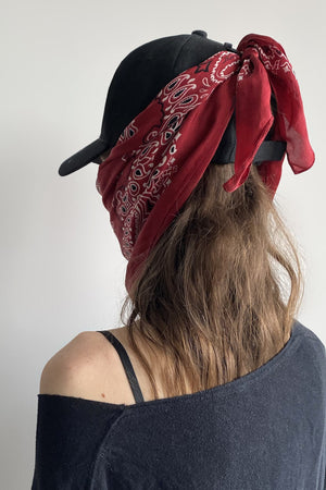 R13 Logo Cap with Silk Bandana - Red