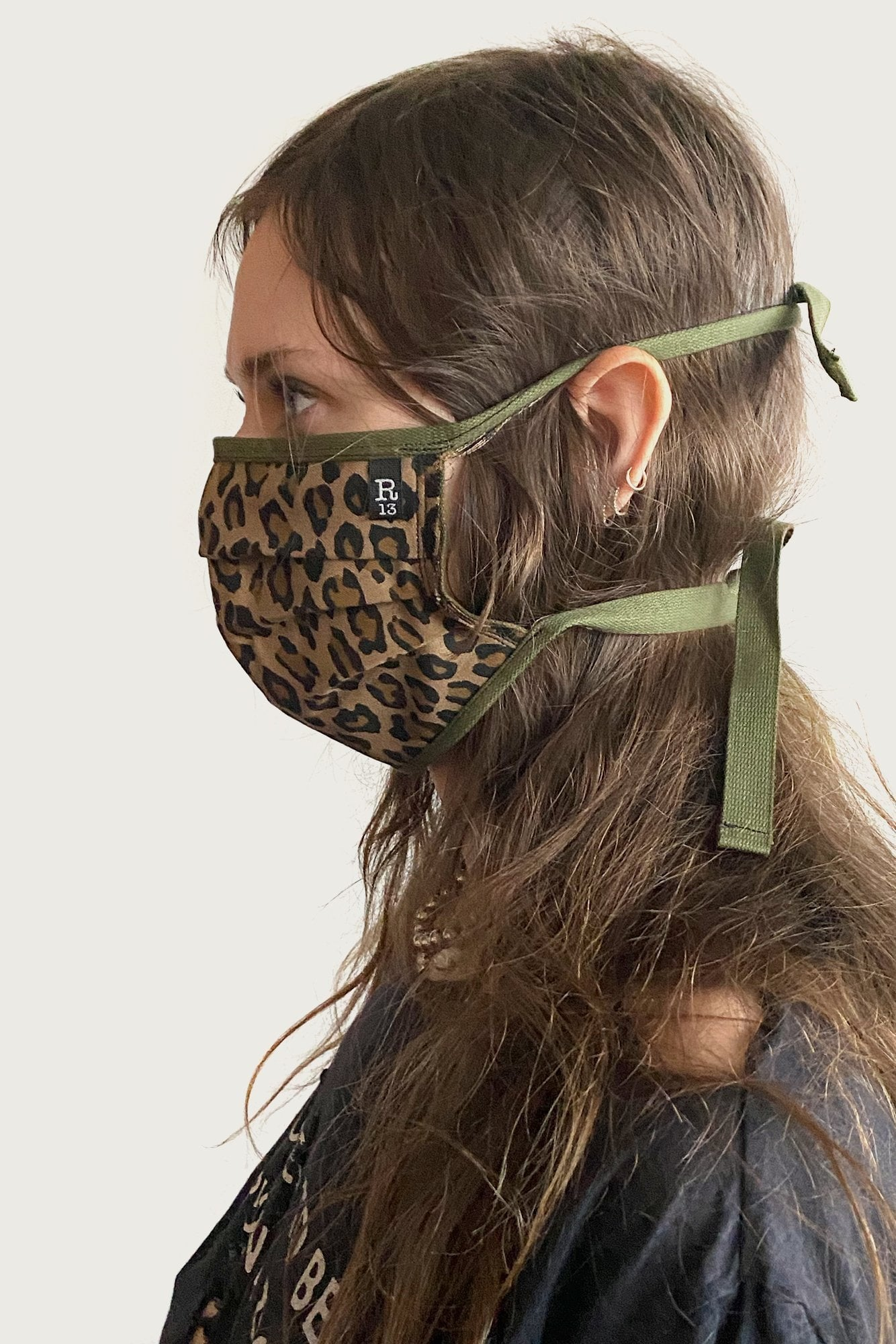 R13 Leopard Face Mask