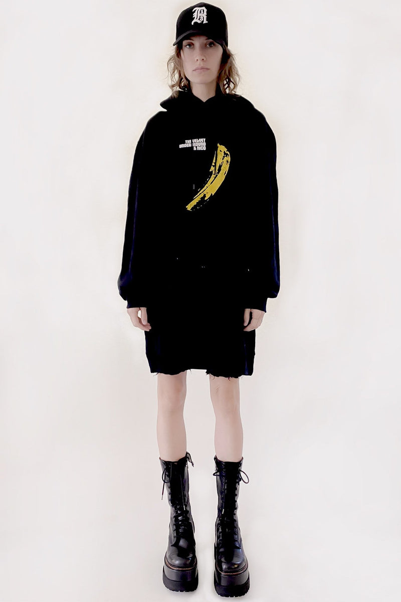 Exclusive Velvet Underground Banana Hoodie Dress