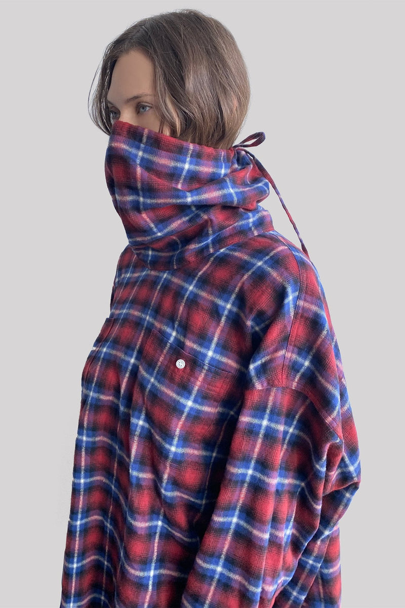 R13 Maskup Flannel Work Shirt