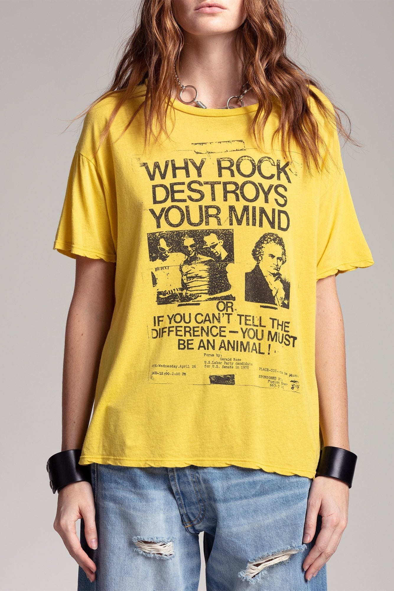Why Rock Destroys Your Mind Boy T - Yellow
