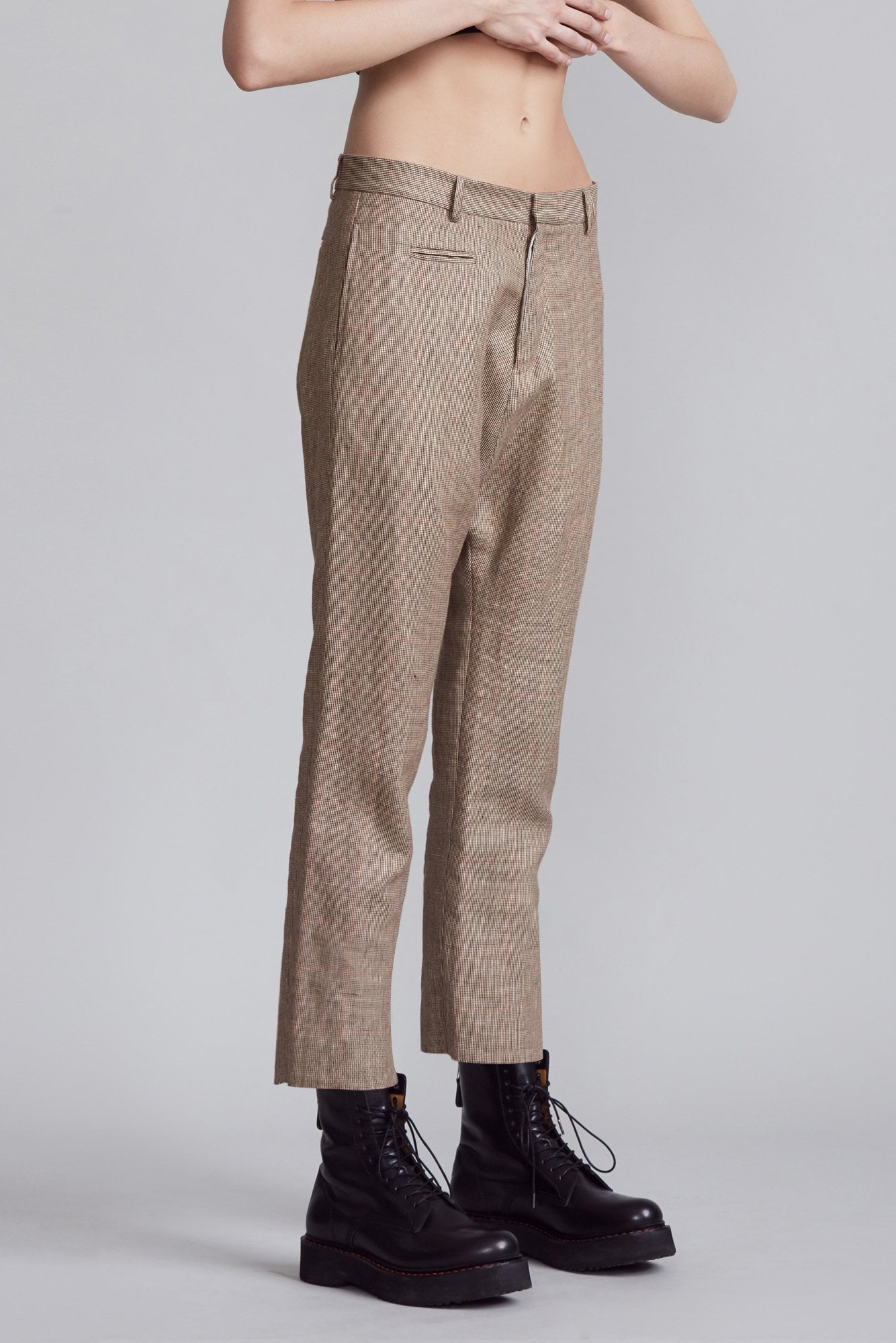 Tailored Drop Trouser - Brown Check