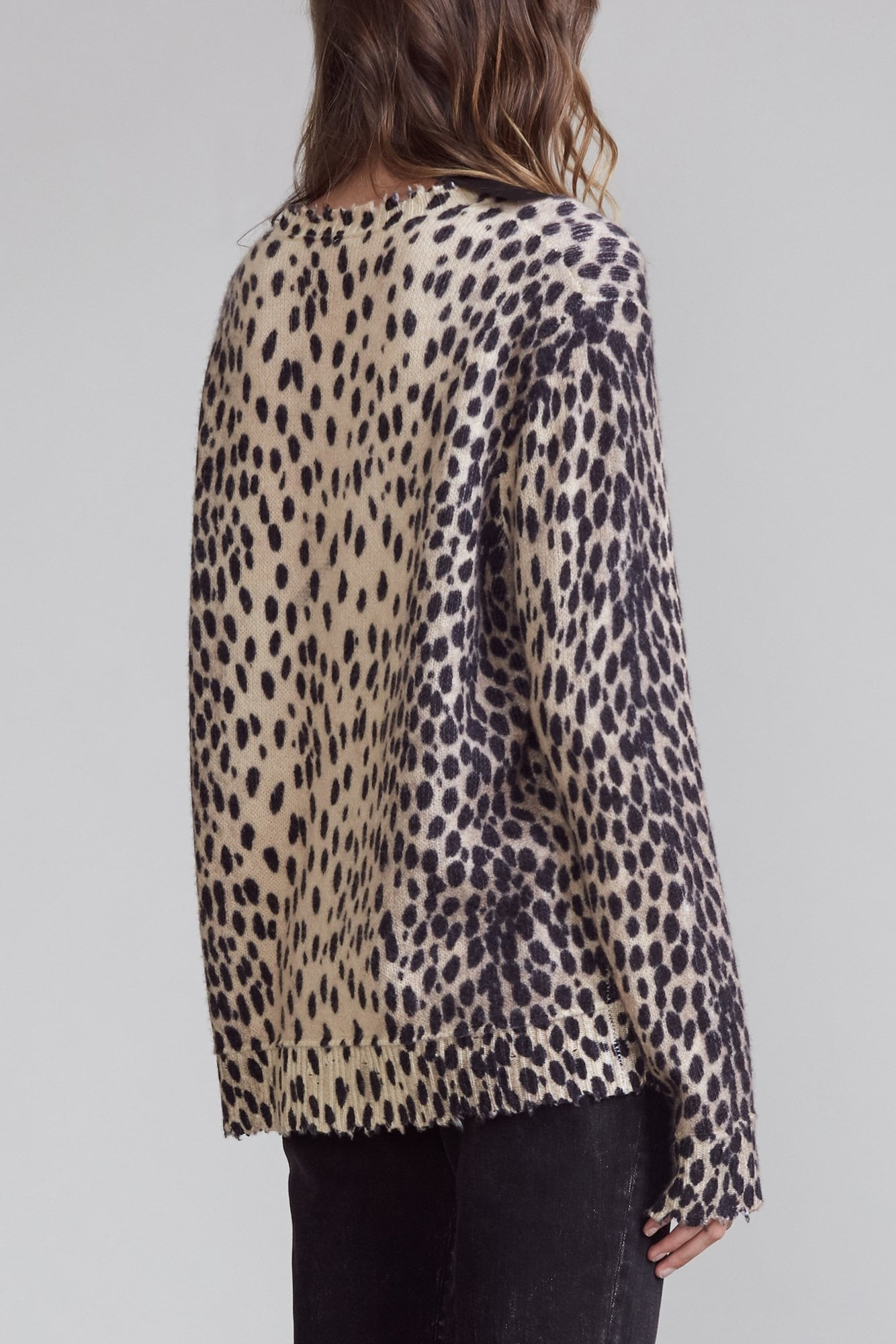 Cashmere Crewneck Sweater - Cheetah