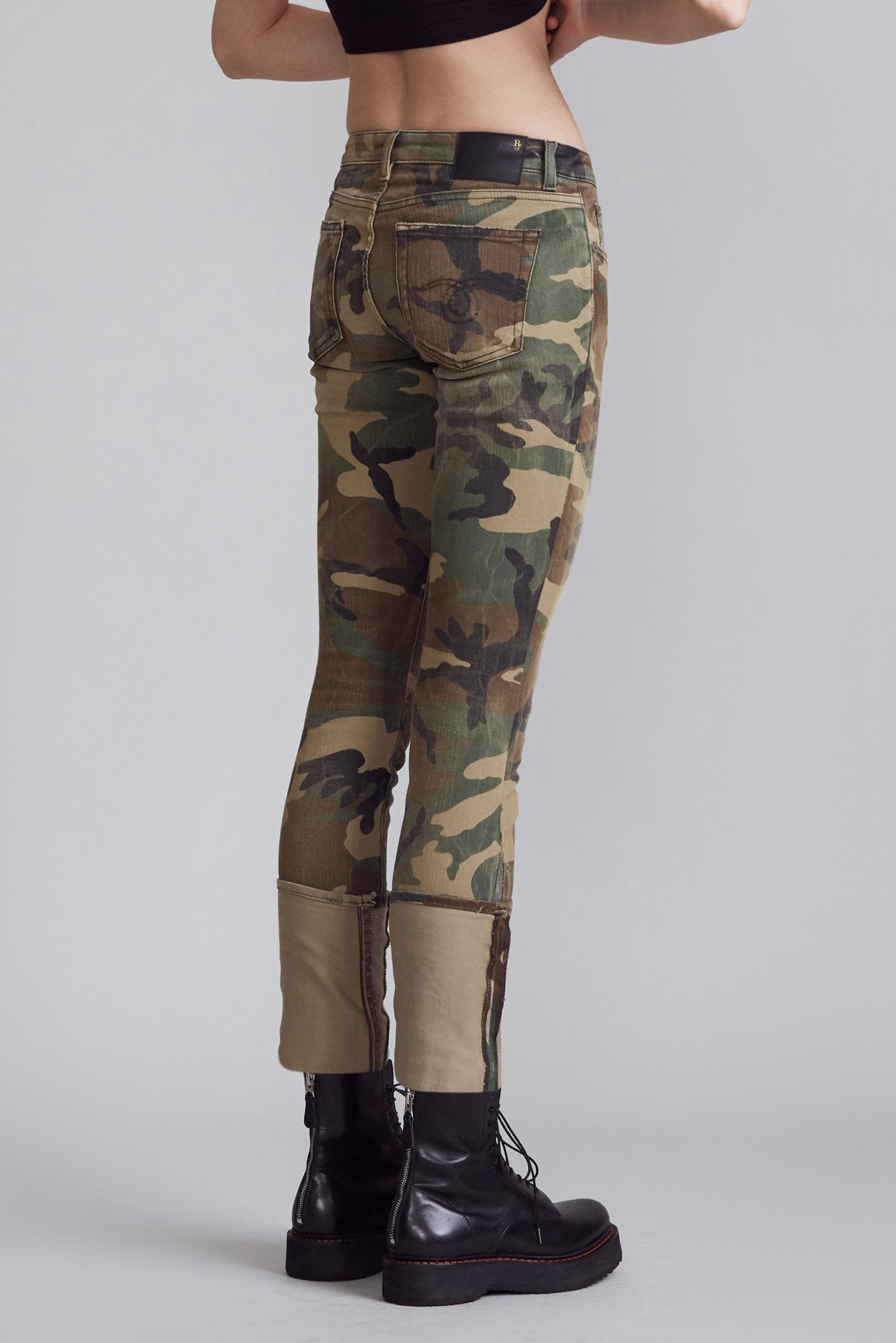 Kate Skinny with Cuff - Beige Camo