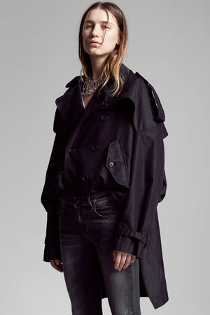 Tuck-In Trench - Black