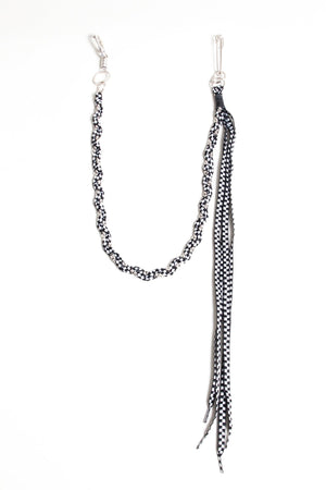 Rope Pocket Chain - White Checker