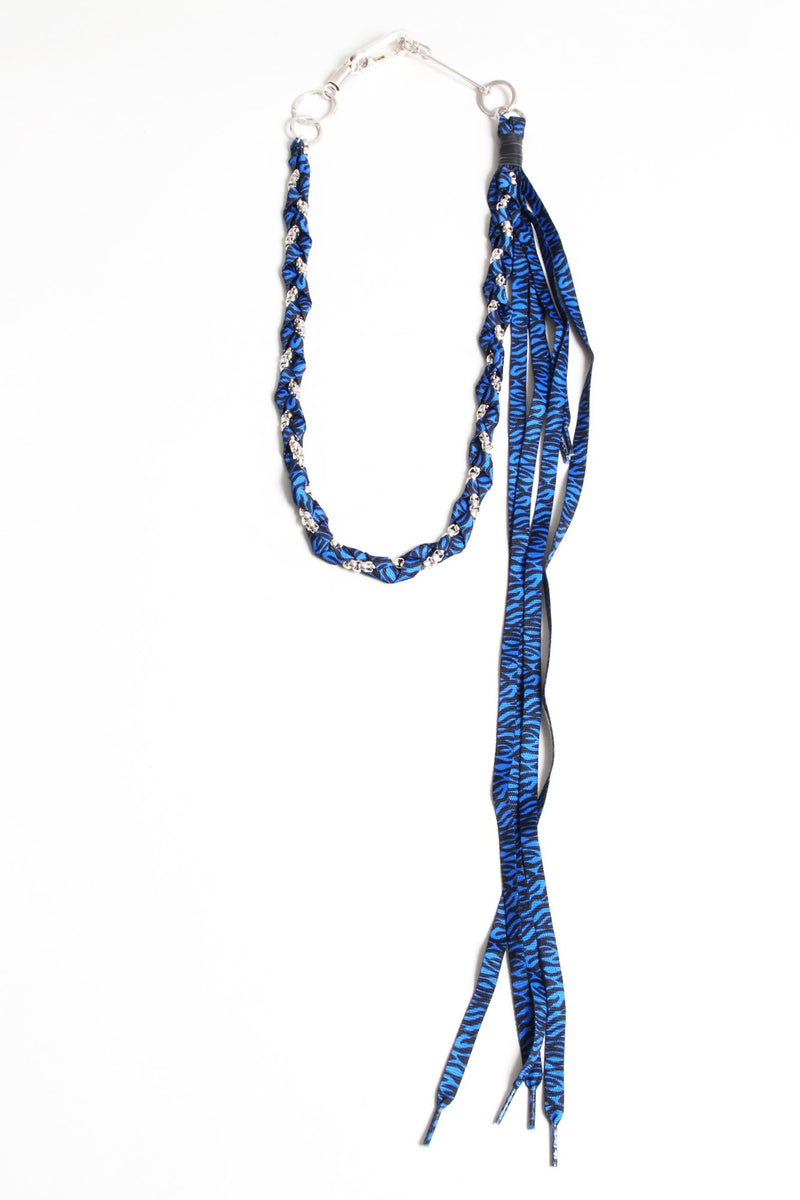 Rope Pocket Chain - Blue Zebra