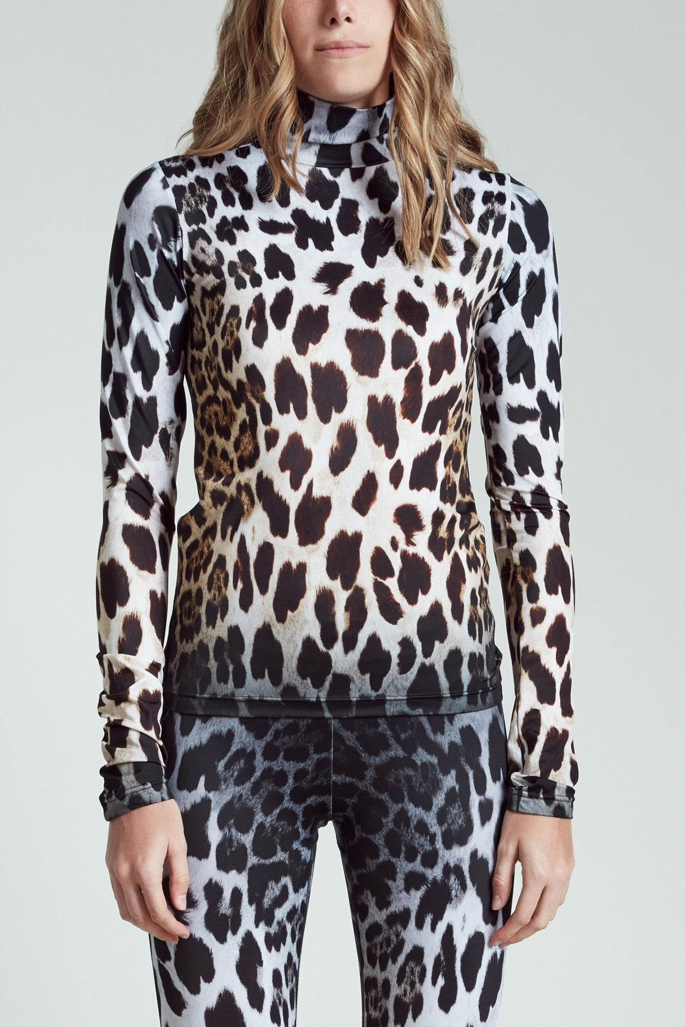 Faded Leopard Turtleneck