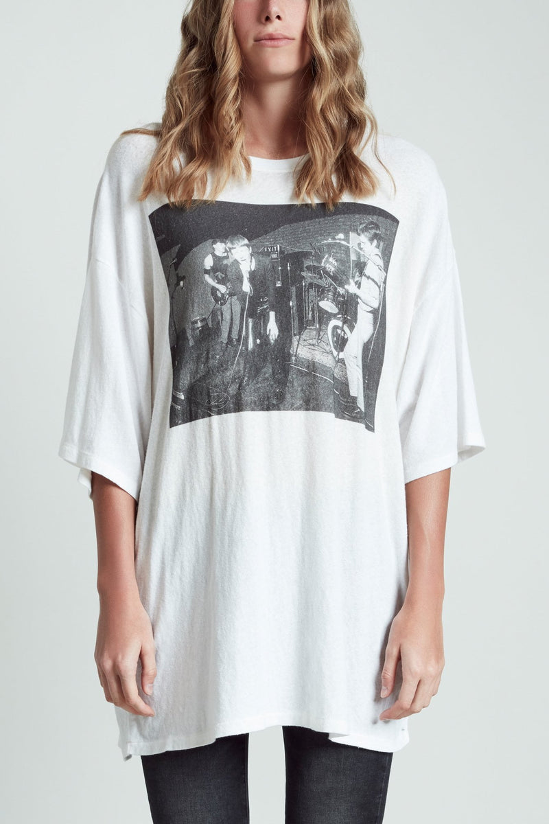 Joy Division Warsaw Oversized T- White