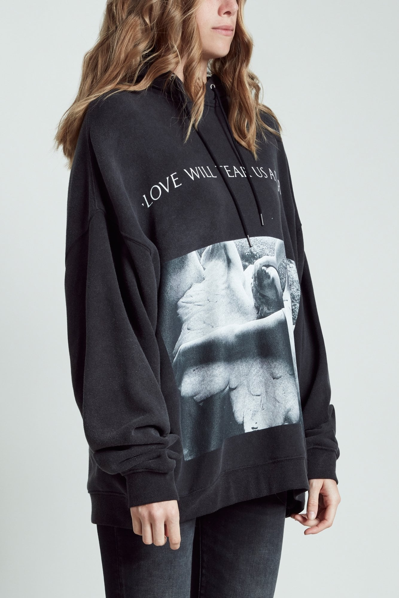 Love Will Tear Us Apart Album Oversized Hoodie | R13 Denim