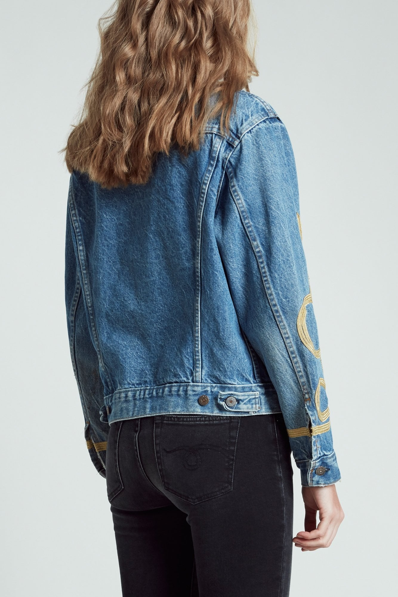 Refurbished Trucker Jacket with Embroidery