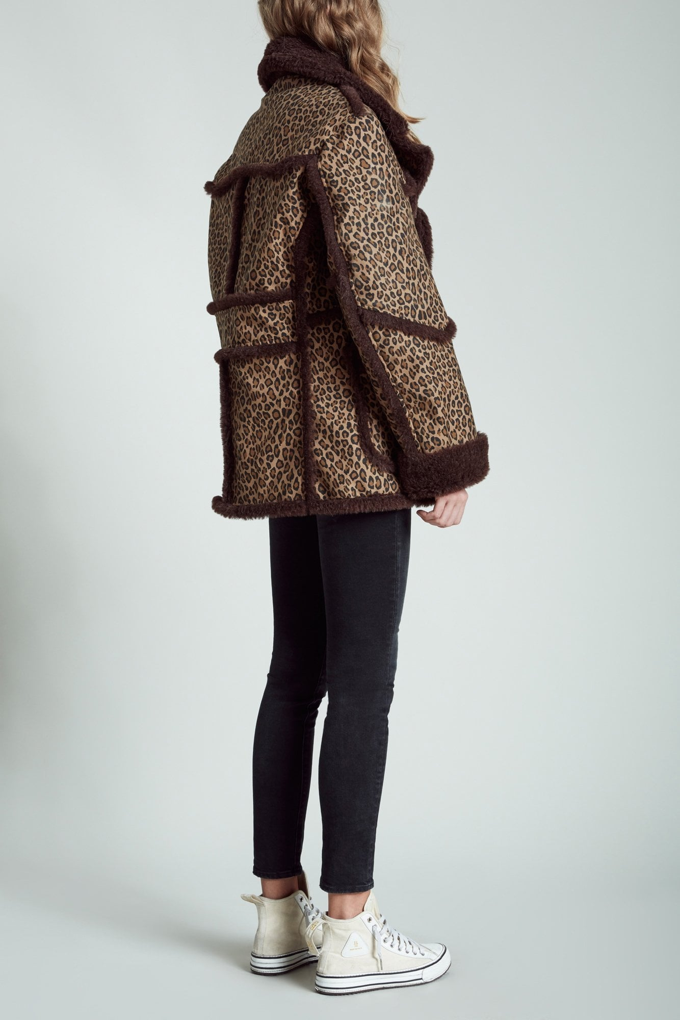 Imitation Sheepskin Coat- Leopard