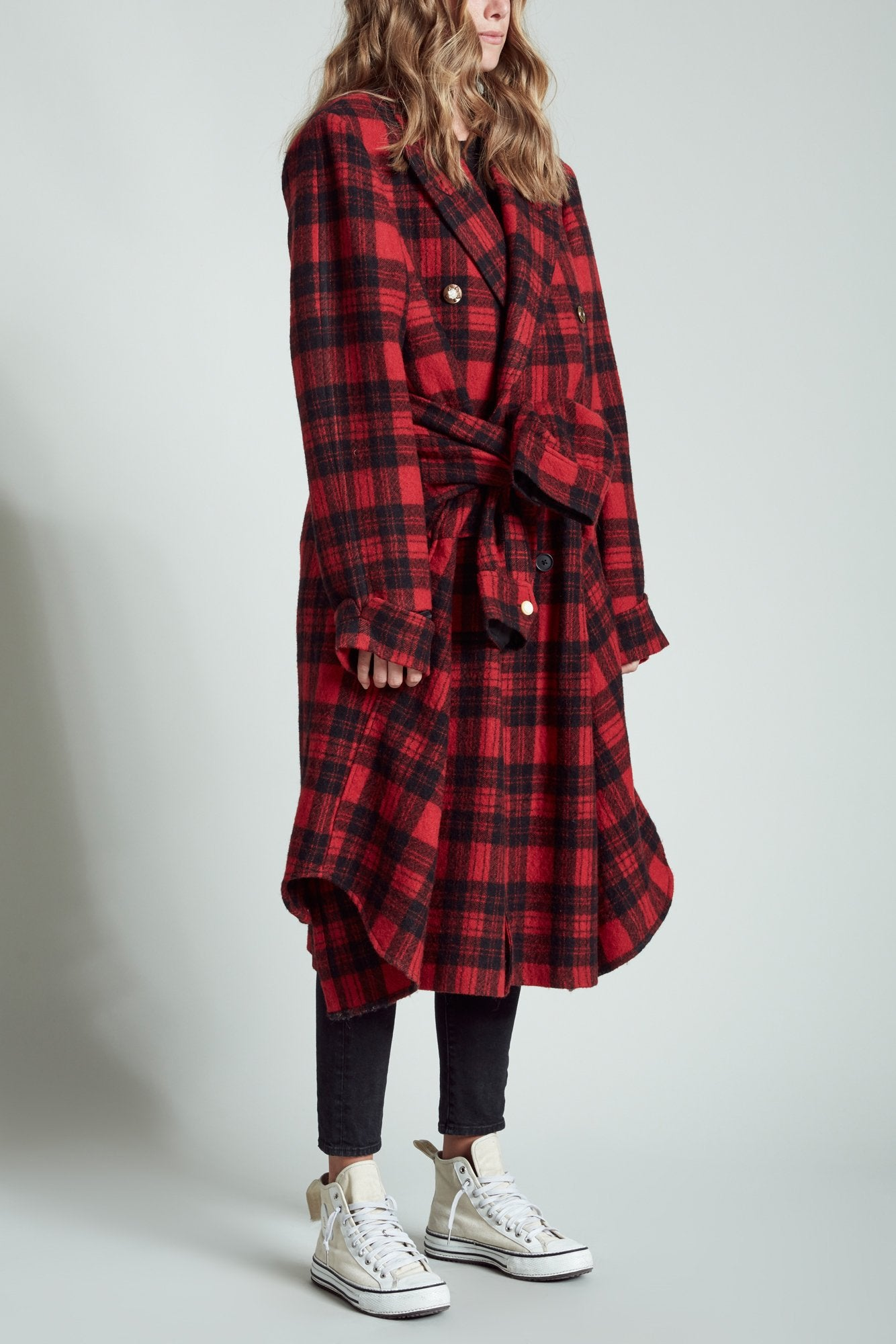 Grunge Coat - Red Plaid