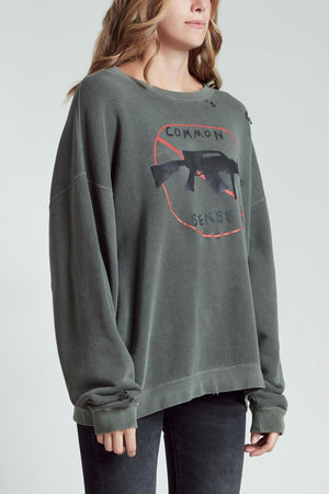 No Guns Sweatshirt - Faded Grey