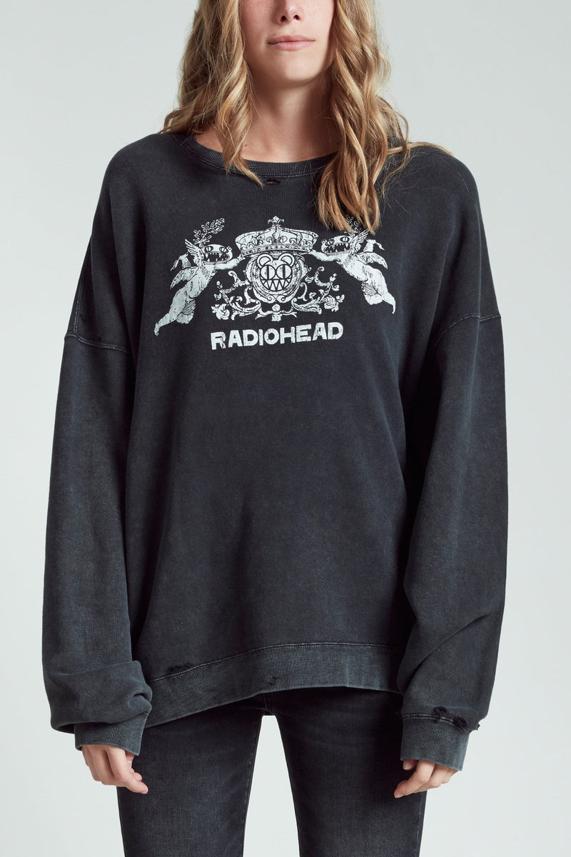 Bearhead Crest Sweatshirt - Acid Black