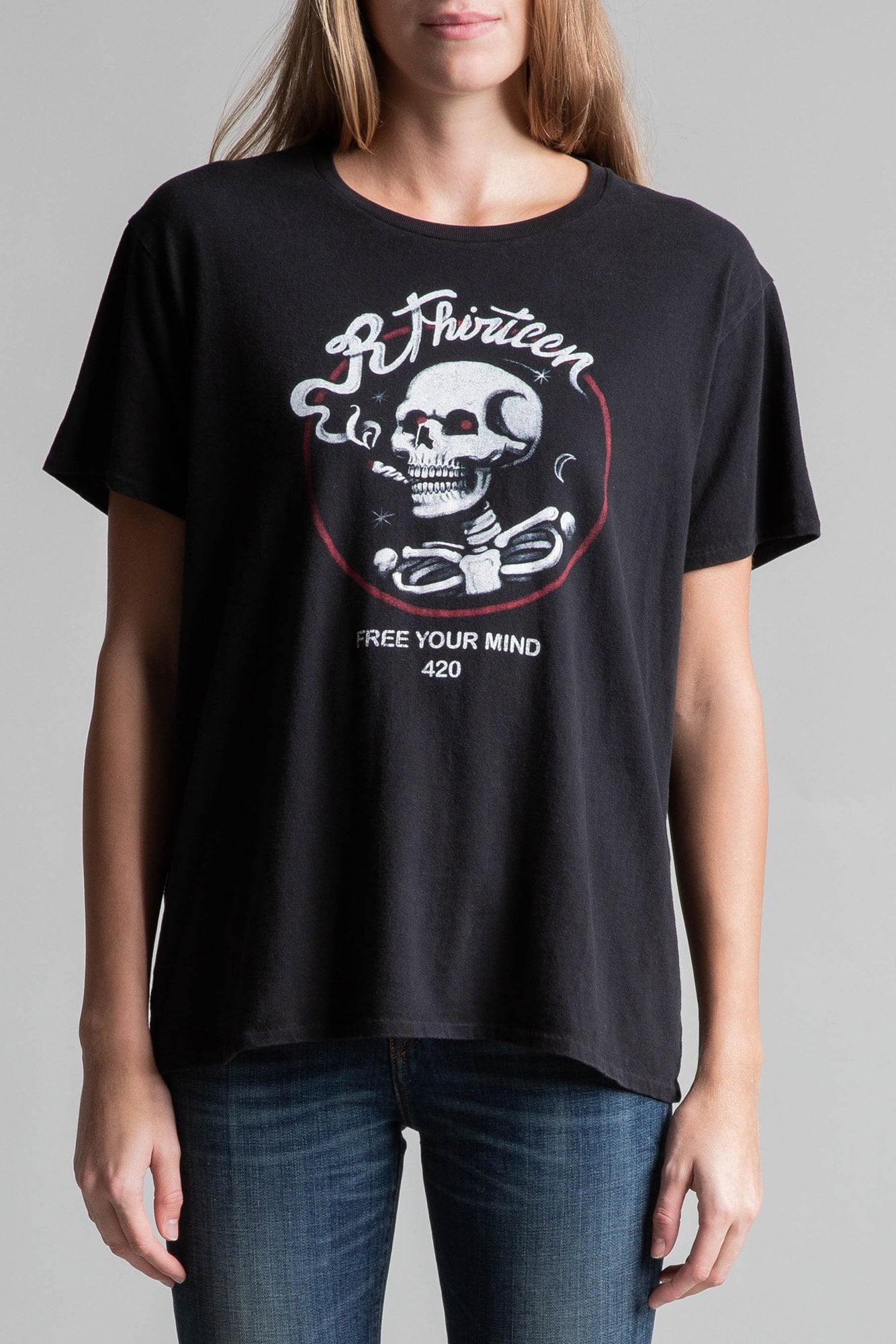 Spray Skull Boy T- Black